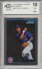 2010 Bowman Chrome Starlin Castro RC Rookie BGS/BCCG 10 Miami Marlins