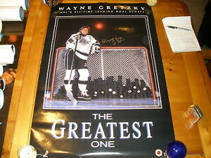 WAYNE GRETZKY SIGNED 22X35 POSTER Edmonton Oilers Los Angeles Kings RARE!!!!!!!
