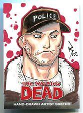 Walking Dead SHANE Sketch Insert Card Season 2 Jon Bernthal Cryptozoic 1/1