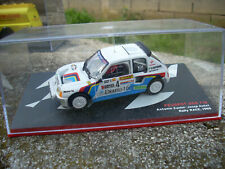 PEUGEOT 205 T16 ZANINI AUTET RALLY RACE 1985 SCALA 143