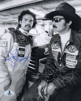 KYLE PETTY & RICHARD PETTY DUAL SIGNED AUTOGRAPHED 8x10 PHOTO BECKETT BAS