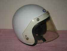 Vintage 1970s Shoei Open Face XL Motorcycle Helmet with Visor