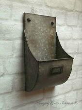 Vintage Industrial Style Wall Letter Rack Storage Unit Basket Antique Metal