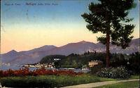 Lago di Como Comer See frankiert 1929 Bellagio dalla Villa Trotti Panorama See