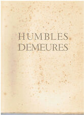 ROUEN - CHIROL-JOUAS-POUTREL-HUMBLES DEMEURES DANS LA TOURMENTE-LIVRE ANCIEN XXè
