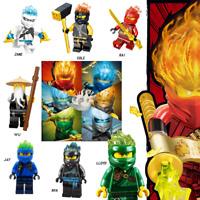 LEGO NINJAGO THE FORBIDDEN SPINJITSU ELEMENTAL SET KAI JAY COLE ZANE LLOYD NYA