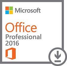 Microsoft Office Professional 2016 DVD Brand New Genuine - 1 PC Install
