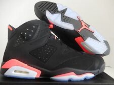 MEN'S NIKE AIR JORDAN 6 RETRO BLACK-INFRARED 23 SZ 17 [384664-023]