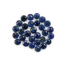 1.24 Cts Natural Blue Sapphire Round Cut 2 mm Lot 29 Pcs Deep Blue Shade Gems