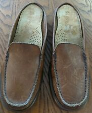 Bass Weejuns Slide Mules Women's Size 8.5M Brown Leather Low-Back Slip-Ons