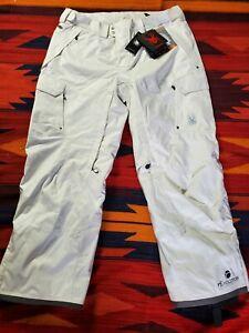 Spyder Ski Pants Men sz XL white Stretch Entrant Stretch Snow Ski  Style #64902