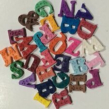 Edible Letters 3D Cake, Cup Cake Toppers x 12 Choose Your Color