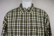 ARIZONA  Button Front Casual Shirt Long Sleeve  Green Plaid Mens LARGE