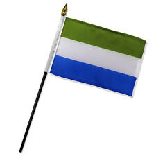 "Sierra Leone 4""x6"" Flag Desk Table Stick"