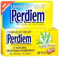 Perdiem Pills Overnight Relief 60 Each (Pack of 4)
