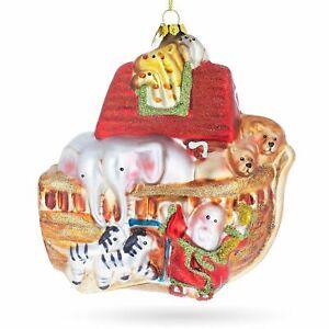 Noah's Ark Glass Christmas Ornament