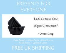 50 x Black Cupcake / Muffin Cases