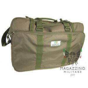 Valigia borsa borsone ORIGINALE Esercito Italiano nylon verde tracolla NUOVA