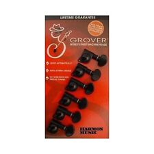 Grover 406BC6 Mini 6 in Line Locking Black Guitar Machine Tuning Heads Tuners