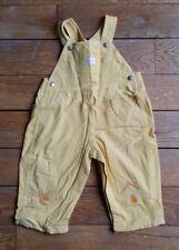 Salopette velours jaune paille de la marque OSHKOSH 12 mois TBE