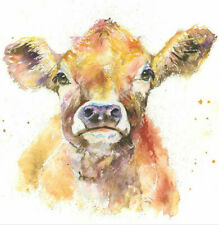 Fine Art Print of JENNY the JERSEY COW  watercolour by HELEN APRIL ROSE  669