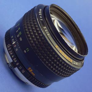 Minolta MC Rokkor-X 58mm 1.2 Lens