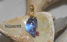 TAGLIAMONTE(652)YGP925*Pendant*Baby Blue Seashell Venetian Cameo+Ruby*MARINA*