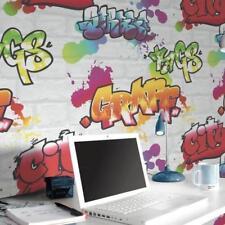 Múltiple Grafiti Blanco Ladrillo Papel Pintado Por Rasch 272901