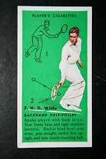 Tennis   Wilde  Technique Tips  Original Vintage  1930's Action Card