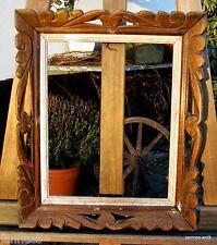 Âge Apparat Cadre Encadrement en bois handgeschnitzt BOIS MASSIF 39 x 33 cm FM: 30 x 24 cm