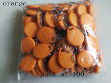 Orange 100pcs 125kHz RFID Proximity ID Token Tag Key Keyfobs Keychain For Access