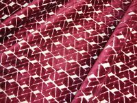 """One Yard SWAVELLE CUT VELVET CLARA Ruby Red UPHOLSTERY FABRIC 55"""" x 36"""" BTY"""