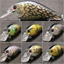 Crankbait Fishing Lures Wide Wobble Slow Floating Lifelike Painting 2X Hook HC15