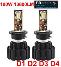 D1S D2S D3S D4S 100W 13600LM P9 LED Headlight All-in-one Bulb White 6K CSP Chips