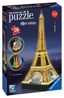 12579 RAVENSBURGER EIFFEL TOWER 3D PUZZLE WITH LIGHTS 216PC  [3D JIGSAW ]