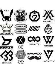 Kpop Vinyl Sticker EXO BTS VIXX SHINEE BIGBANG IKON GOT7 SVT