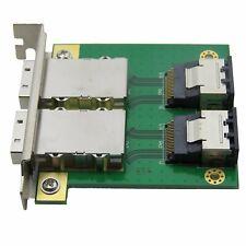 2port Internal SFF-8087 to External 8088 PCI Mini SAS 26P Adapter SAS RAID Cable
