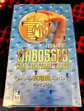 1994-95 Topps Embossed NBA Basketball [Factory Sealed, 6 Cards/24 Packs, HTF]