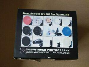 Viewfinder Photography Speedlite flash Accessories Kit, Canon, Nikon Metz etc.