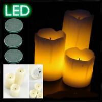 LED Wachskerze 3er Set Kerze Flackerkerze Batterie Flackerlicht Weihnachten