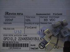 Evox Rifa Film capacitor SMD 0.22uf/220nf 63V 10% GPC10.2 224K63A31  10pcs