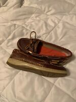 Sperry Top Sider Angelfish $90 Women's Boat Shoes Size 7 Leather Tan