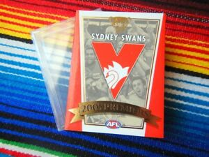✺New✺ 2005 SYDNEY SWANS AFL Premiers Card Cover & Case