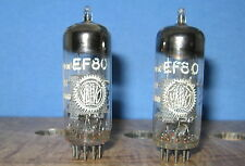 Radio Tubes EF80 Valvo Amperex Holland Test 120 116 PAIR