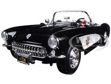 1957 CHEVROLET CORVETTE HIGHWAY PATROL 1:18 DIECAST MODEL CAR BY MAISTO 31380