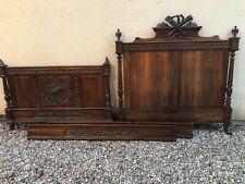 More details for antique double (4ft 6) breton marriage bed frame (estate sale)