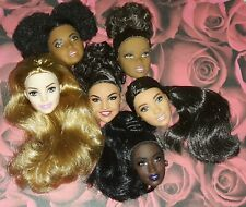 OOAK Made to Move Barbie Fashionista DOLL HEADS ONLY COMBO Lot of 6 AA BMR1959!!