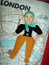 """Norah Wellings England cloth, """"Jolly Dutch Boy"""", 10 1/2"""" doll model #115 c.1935"""