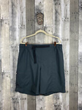 Men's Columbia Grey Belted Nylon Shorts Size XL