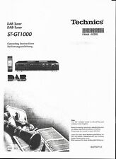 Technics Bedienungsanleitung user manual für ST-GT 1000 DAB  Copy deutsch-englis